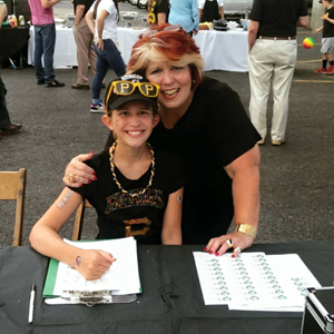 Marianne and Mary Kate at the Pirates Tailgate benefiting the NFCA